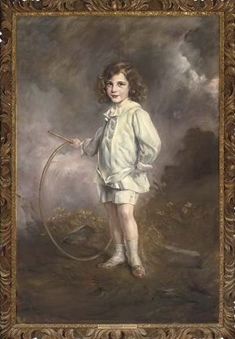 Portrait of Nathan Mayer Victor Rothschild, 1914 by Josef Arpad Koppay (Austro-Hungarian 1857 -1927)....this four year old grew up to become 3rd Baron Rothschild  (1910 – 1990) and was recruited to work for MI5 during World War II in roles including bomb disposal, disinformation and espionage.....