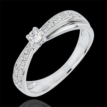 Bague Diamant Solitaire Diaphane - diamant 0.1 carat : bijoux Edenly