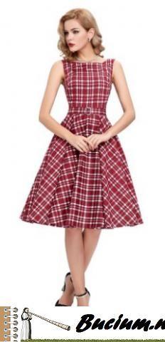 GRACE KARIN® Sleeveless Cotton Vintage Tea Dress with Belt VL6086 (Multi-Colored)