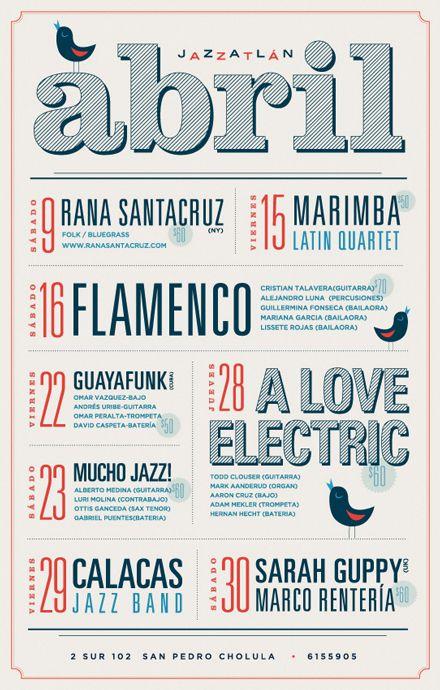 Event Calendar For Organization : Jazzatlan bar branding design inspiration pinterest