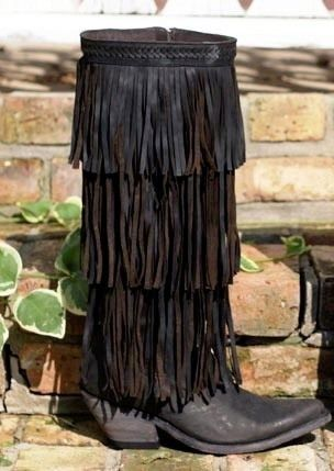 Fringe boots, Liberty and Fringes on Pinterest