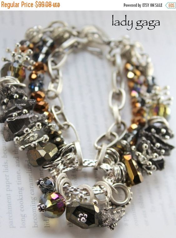 ON SALE bracelet gold pyrite bracelet druzy by soulfuledges