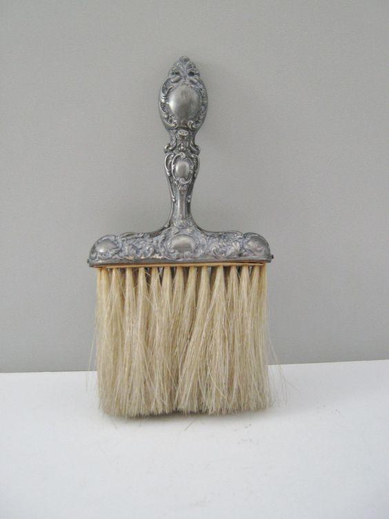 Silver Antique Crumb Crumb Brush