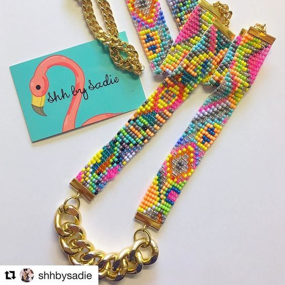 So pretty! You can get your own necklace from @shhbysadie at #etsymadelocal in @tramshedcardiff on December 4th! #Repost @shhbysadie with @repostapp Neon Sea Candy necklace headed to the #USA today Want one? Shhbysadie.com . . #seacandy #bright #brightnecklace #pink #outfit #fashionblogger #britblogger #britishdesigner #shhbysadie #designer #designerjewelry #designernecklace #handmade #resortwear #resortnecklace #colorfulstyle #ilovecolor #cavetsy #etsy #moda #joyeria #madeinwales…