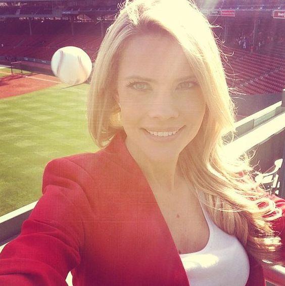 http://nesn.com/2013/04/reporter-kelly-nashs-photo-on-green-monster-shows-baseball-nearly-hitting-her-head-photo/