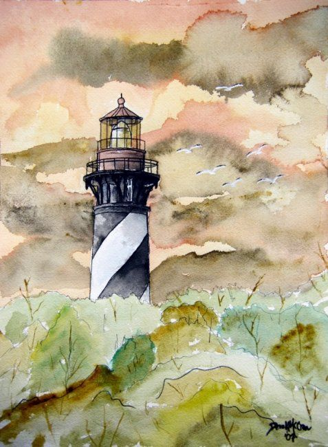 St Augustine Lighthouse Florida In 2020 Lighthouse Painting