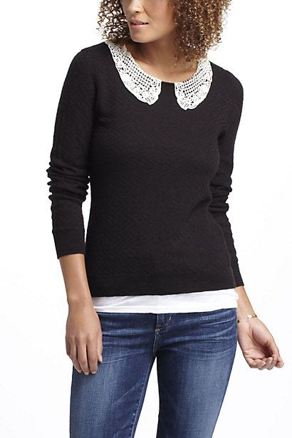 Lace Collar Pullover