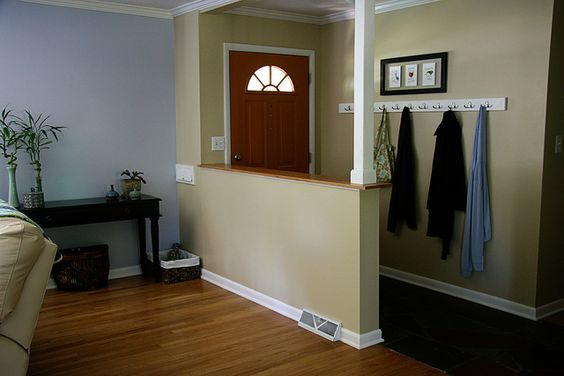amusing living room half wall | entry half wall. Great to divide off a big space. | Home ...