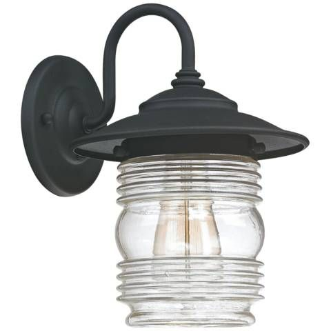 Capital Creekside 11 3 4 High Black Outdoor Wall Light 1h831 Lamps Plus In 2020 Wall Lantern Outdoor Wall Lantern Outdoor Barn Lighting