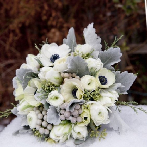 Winter Wedding Compact Posy Uk Season November Spring For Further Details Contact Chirp Winter Wedding Bouquet White Wedding Bouquets Blue Wedding Bouquet