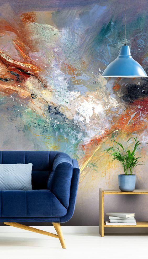 Celestial Wall Mural By Anne Farrall Doyle Wallsauce Nz Artwork For Living Room Wall Murals Wall Art Living Room