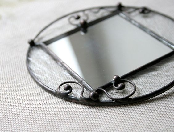 Pocket little mirror clear stained glass Womens by ArtKvarta, $28.00