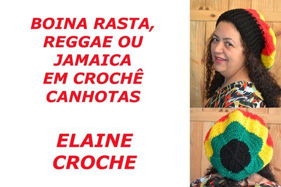 BOINA RASTA, REGGAE OU JAMAICA EM CROCHÊ CANHOTAS