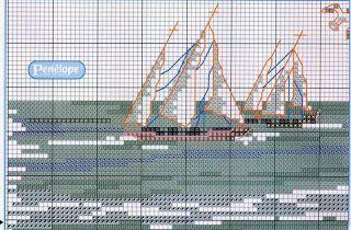 Cantinho da Lih: Quadro Paisagem Mar, em Ponto Cruz!