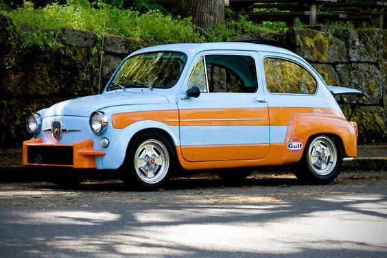 Fiat 600 Gulf Livery Fiat 600 Fiat Italian Cars