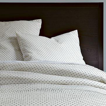 $139 King --  I love the Swiss Dot Duvet Cover + Shams - White/Slate on westelm.com