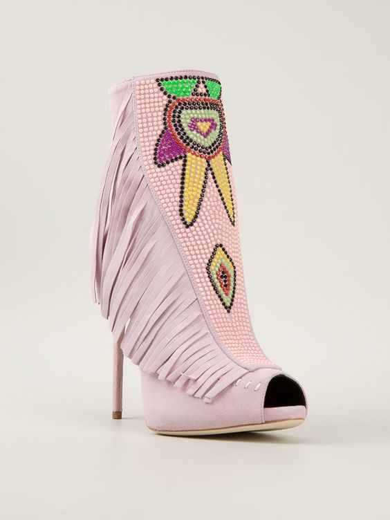 Giuseppe Zanotti Design Fringed Open Toe Ankle Boots - Julian Fashion - Farfetch.com.br
