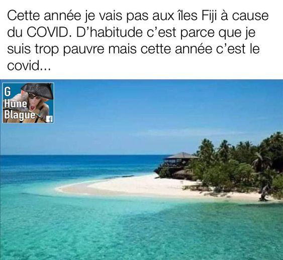 Cette année je ne vais pas aux îles Fidji à cause de la COVID…  • • • …