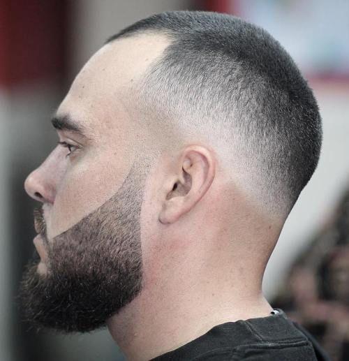 Buzzed Skin Fade Best Hairstyle For Men With Receding Hairline Men 39 S Hai Buzze Coole Frisuren Haare Frisur Geheimratsecken