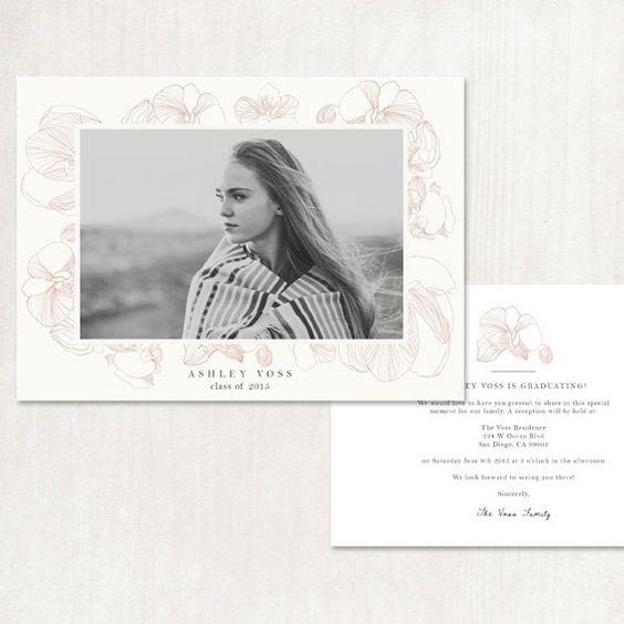 Graduation Announcement Invitation by AshleyDellingerPhoto on Etsy High School Senior
