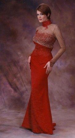 Red long dress cheap 70
