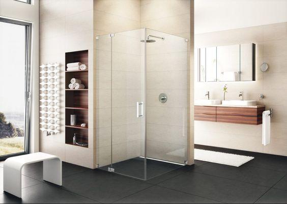 offenes bad * ideen für ein helles badezimmer * glaswand dusche, Hause ideen