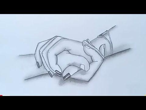 رسم سهل رسم يدين متشابكتين بالرصاص رسومات سهله جدا تعليم الرسم Holding Hands Pencil Sketch Youtube Hand Sketch Pencil Drawings Easy Pencil Drawings