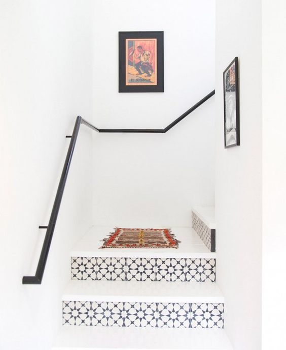 These stairs. Get Inspired by an Austin Bungalow With Casual Style via @domainehome