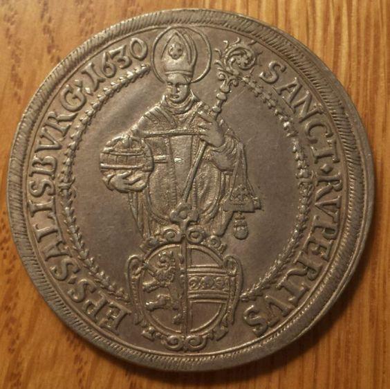 1630 Austrian States SALZBURG 1 Thaler - Salisburg Austria - Large Silver Coin - http://coins.goshoppins.com/world-coins/1630-austrian-states-salzburg-1-thaler-salisburg-austria-large-silver-coin/