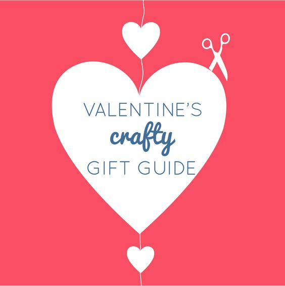 Valentine's crafty gift guide. Free tutorials, sewing projects, craft kits and present ideas. Get inspiration and find handmade gifts or the perfect present
