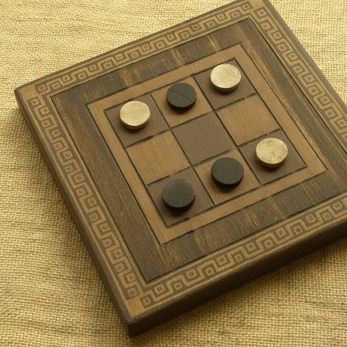 Terni Lapilli (Ancient Rome) This version is identical to Tic-Tac-Toe, though it is believed that Terni Lapilli was actually played with 3 pieces. The rules to this game have been lost with time.