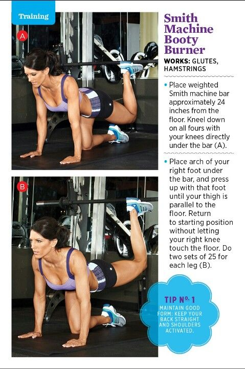 SMITH MACHINE. Glutes on the smith machine..yes! I knew this could be done.