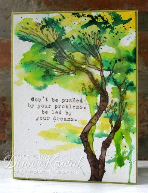 Mama Dini's Stamperia: Watercolor Tree