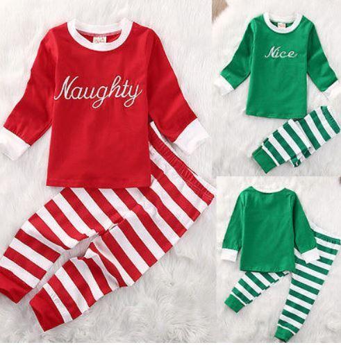 naughty nice matching christmas pajamas 2 pc kids pajamas 2 pc christmas kids