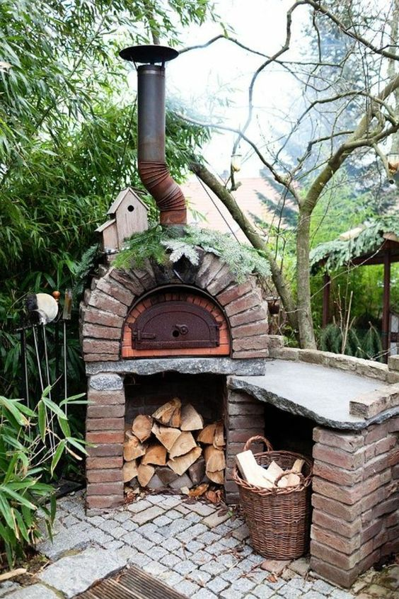 gartenkamin design garten gestalten pflanzen (Diy Outdoor - pizzaofen grill bausatz