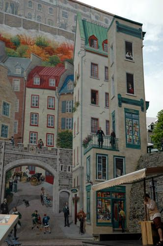 Pinterest the world s catalog of ideas for Mural quebec city