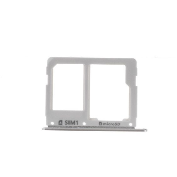for Galaxy A 3 SM-A310F (2016) OEM SIM/MicroSD Card Tray Holder Slot for Samsung Galaxy A3 A310/A5 A510/A7 A710 - Silver