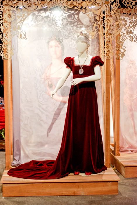 vestido de corte de Carlota Joaquina