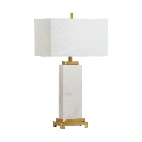 Chelsea House Lighting White Kennedy Marble Lamp In 2020 Marble