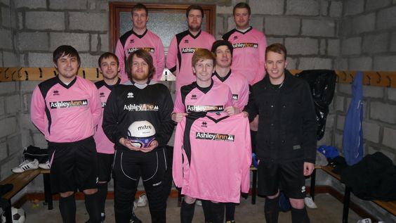 Ashley Ann sponsor local football team 'Thurso Spartans'    Thurso Spartans recently received their new football strips. Ashley Ann are the proud sponsors and we hope to see them going from strength to strength in the league this year. Here, Scott from Ashley Ann is pictured handing the strips over.
