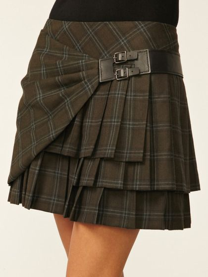 L.A.M.B. Plaid Pleated Skirt... might just have to make something like this....