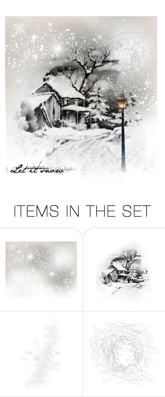 """""""Let it snow"""" by irvaska ❤ liked on Polyvore featuring art"""