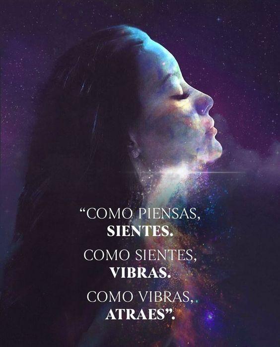 """""""Como vibras, atraes"""". 🌌🖤 #universo #conciencia #arte #energia #frecuencia #espiritualidad #amor #universe #energy #alma #espiritu…"""