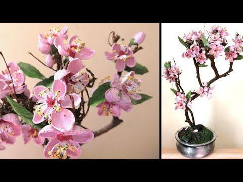 Diy Pistachio Shell Flowers Pista Shell Cherry Blossom Bonsai Tree Pista Shell Crafts Ep 48 In 2021 Cherry Blossom Bonsai Tree Shell Flowers Shell Crafts Kids