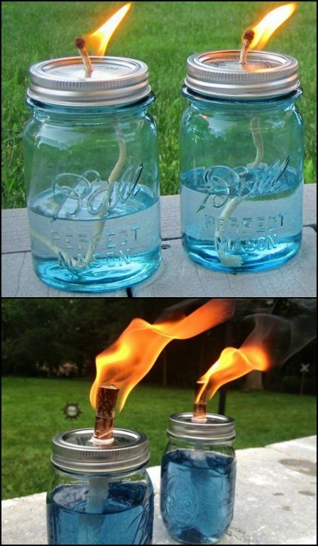 Make your own mosquito repelling citronella candles!