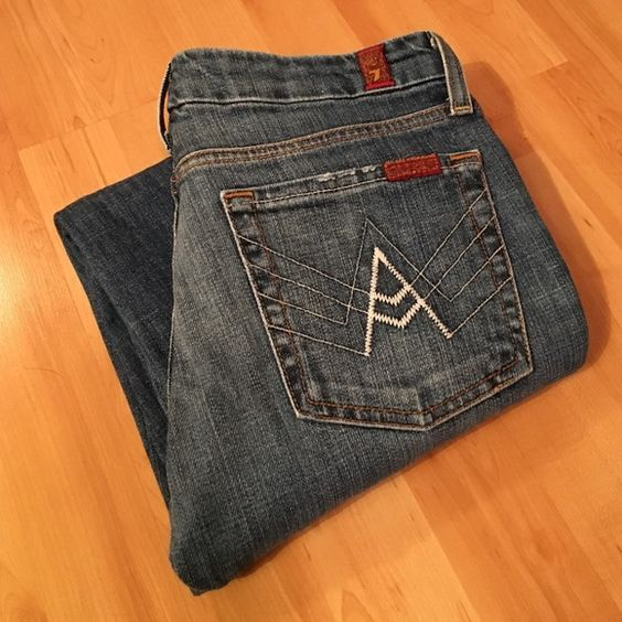"""7 for all mankind: A-pocket bootcut size 27 Excellent condition bootcut A-pocket. Inseam 34"""", rise 7.5"""" 7 for all Mankind Jeans Boot Cut"""