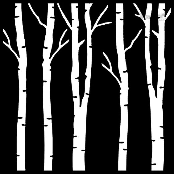 Birch Tree Stencils on Stencil Revolution