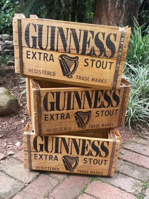 2 x Vintage Guinness Crates