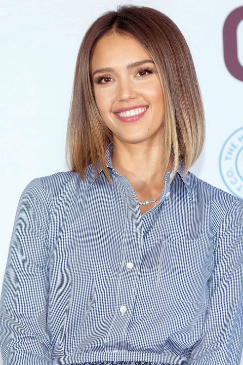 The bob never goes out of style, but you can elevate the chic, low-maintenance look by following Jessica Alba's angular lead. Ask your stylist to make the front a little longer—an inch or two—than the back.