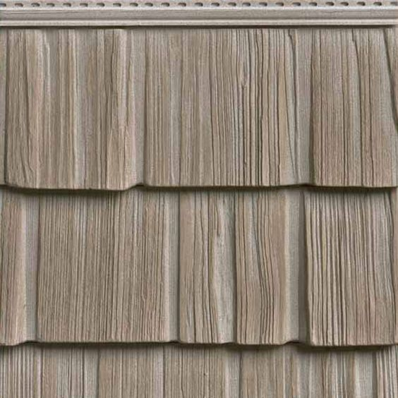 10 w x 62 1 2 l exposure vinyl staggered split shakes for Wood grain siding panels